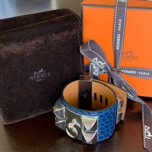 Hermès CDC Blue Roi Alligator RARE Bracelet NEW